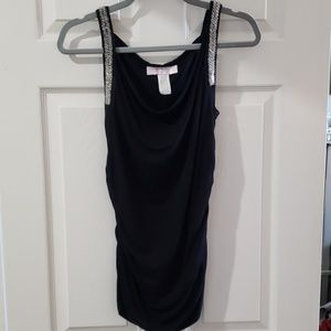 Black with bling on the straps tank top